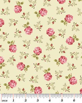 Rosemount Roses E Vine Quilting Fabric Benartex