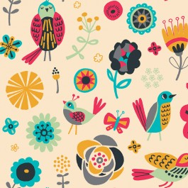 Birds Of A Feather Alison Cole Fabric