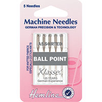 Hemline Ball Point Sewing Machine Needles Mixed