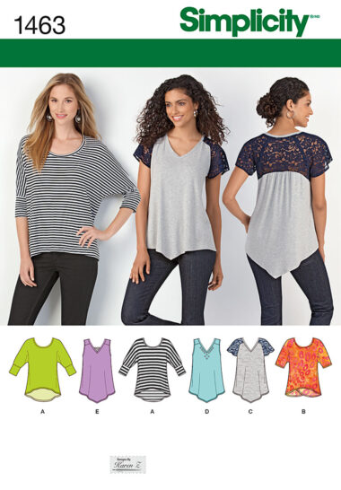 Simplicity 1463 Top Sewing Pattern