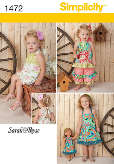 Simplicity 1472 Toddler Sewing Pattern