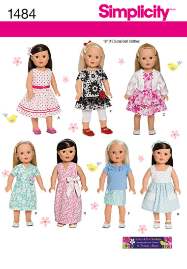 Simplicity 1484 Doll Sewing Pattern