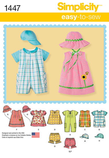 Simplicity 1447 Sewing Pattern