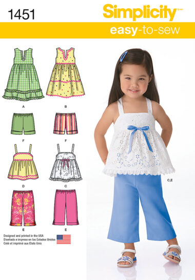 Simplicity 1451 Sewing Pattern