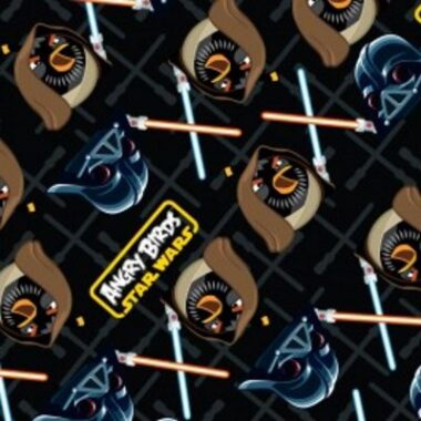 Angry Birds Starwars Duel Cotton Fabric