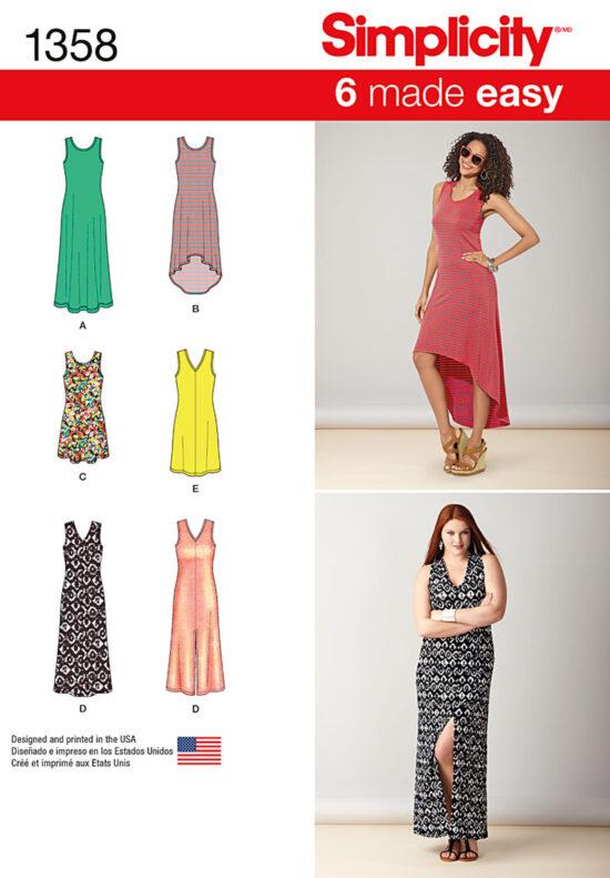 Simplicity 1358 Dress Sewing Pattern
