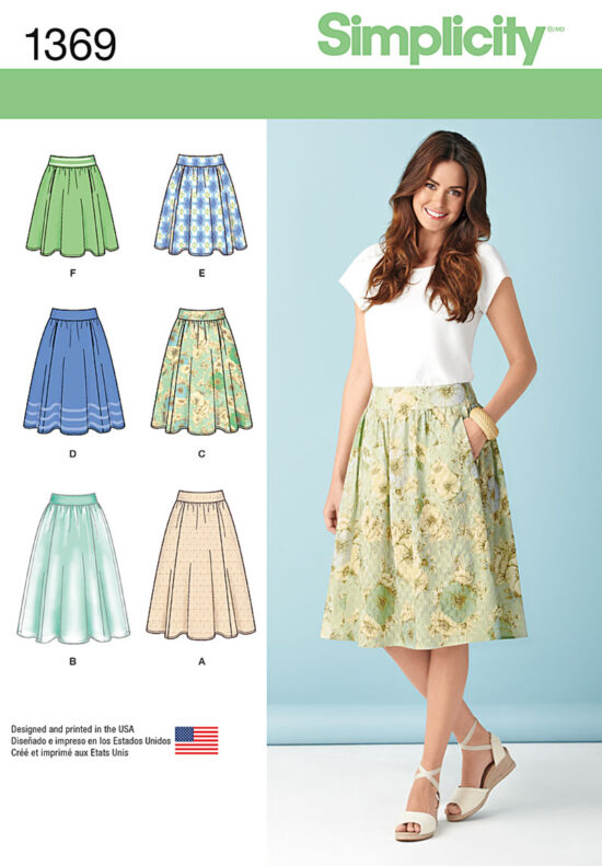 Simplicity 1369 Skirt Sewing Pattern