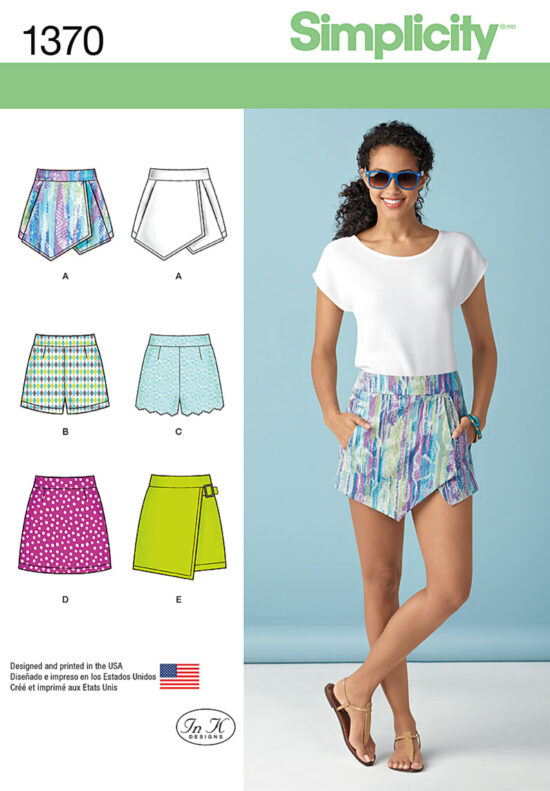 Simplicity 1370 Skirts And Shorts Sewing Pattern