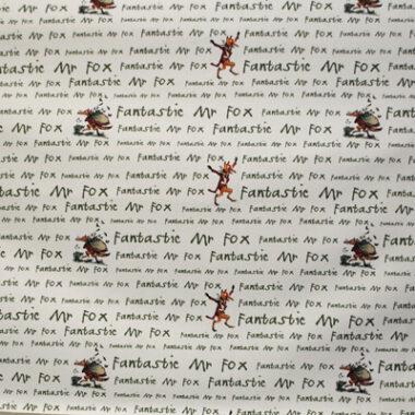 Squibbling Fantastic Mr Fox Roald Dahl Fabric
