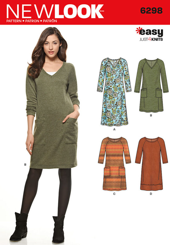New Look 6298 Sewing Dress Pattern