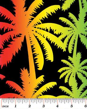 Surfs Up Rainbow Palm Benartex