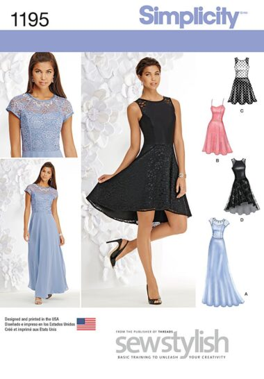 Simplicity 1195 Special Dress Pattern