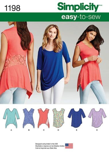 Simplicity 1198 Knit Top Sewing Pattern