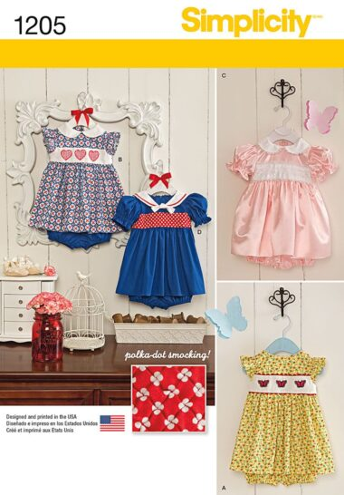 Simplicity 1205 Babies Sewing Pattern