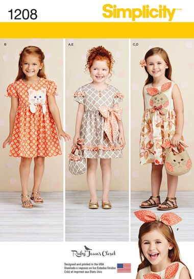 Simplicity 1208 Childs Dress Sewing Pattern