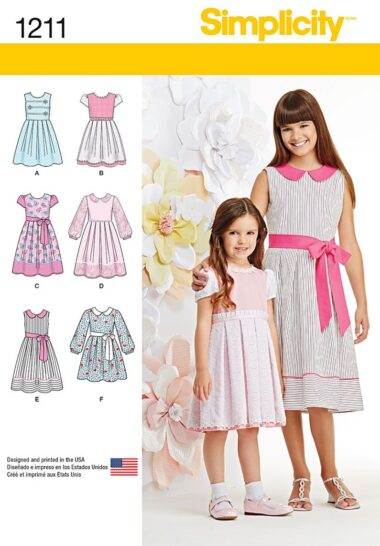 Simplicity 1211 Childs Dress Sewing Pattern
