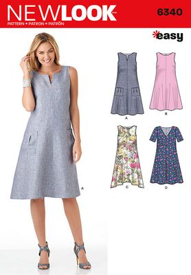 New Look 6340 Dress Sewing Pattern