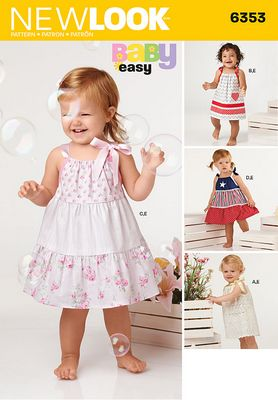 New Look 6353 Baby Dress Sewing Pattern