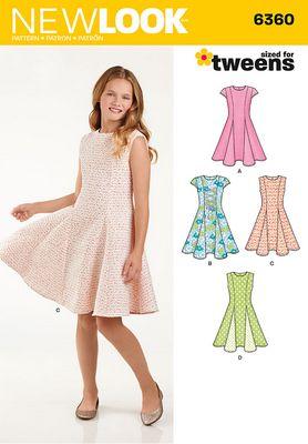 New Look 6360 Girls/Teen Dress Sewing Pattern