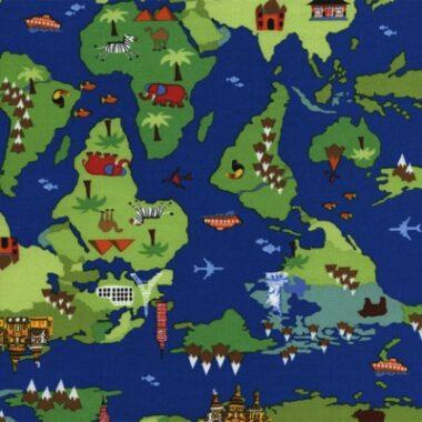 Earth Timeless Treasures International Map