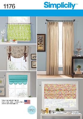 Simplicity 1176 Window Treatment Sewing Pattern