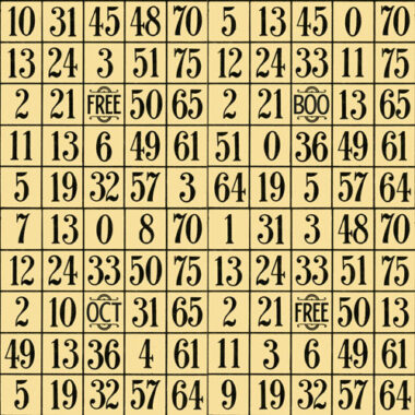 Sew Scary Numbers Grid Quilting Treasures Fabric