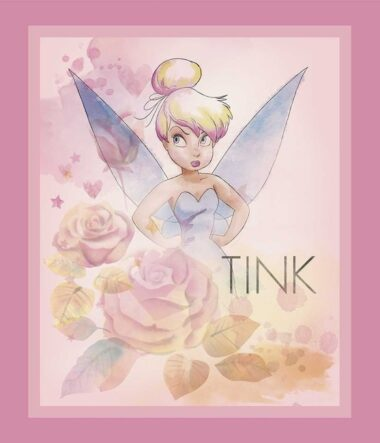 Tinker bell Pink Fabric Panel