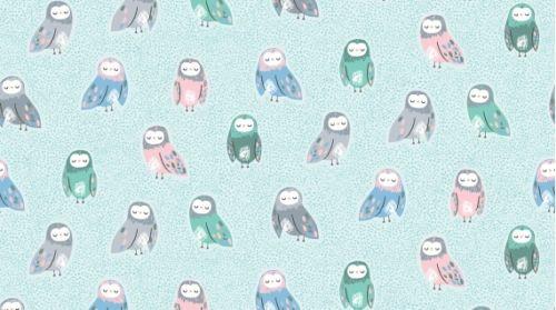 Dear Stella Owls Fabric Pine Grove