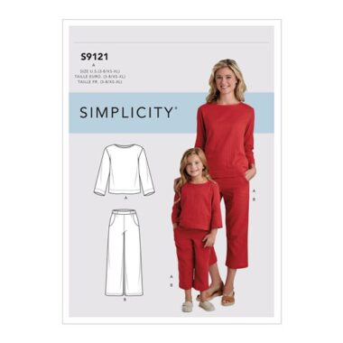 Simplicity Sewing Pattern S9121 Children's & Misses' Top & Pants