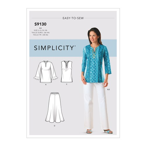Simplicity Sewing Pattern S9130 Misses' & Womens Tops & Bottoms