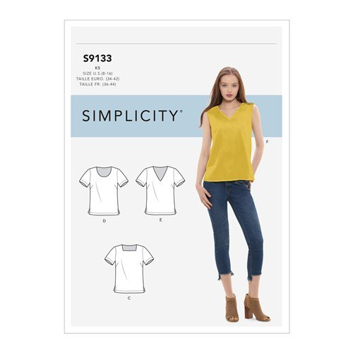 Simplicity Sewing Pattern S9133 Misses Tops