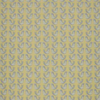 Iliv Scandi Birds Mustard Curtain Fabric
