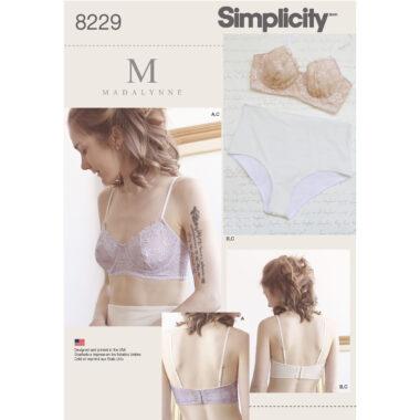 Simplicity 8229 Bra Sewing Pattern