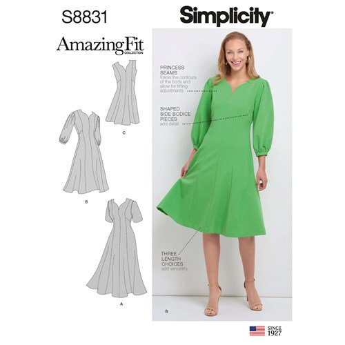 Simplicity Sewing Pattern S8831 Misses Womens Amazing Fit Dress