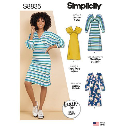 Simplicity Sewing Pattern S8835 Misses Knit Dress