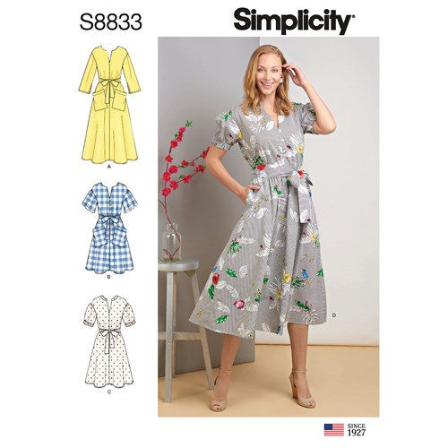 Simplicity Sewing Pattern S8833 Misses Miss Petite Pullover Dress