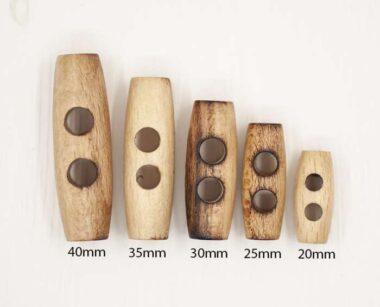 Italian Wooden Toggles Natural