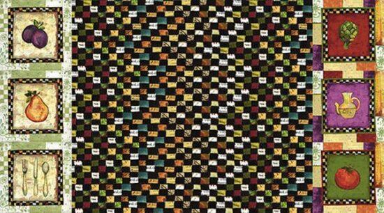 Just Cookin Border Fruits Sue Zipkin Fabric