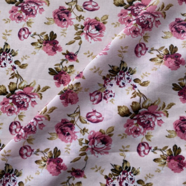 Roses Poly Cotton Fabric