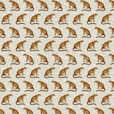 Cheetah Safari Linen Style Canvas Fabric