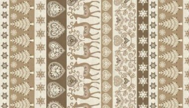 Scandi 111 Border Makower Christmas Fabric