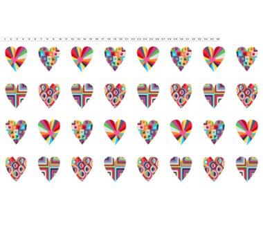 Clothworks Happy Heart Panel