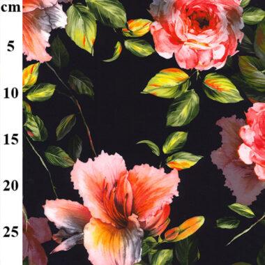 Jasmine Peached Print Dress Fabric