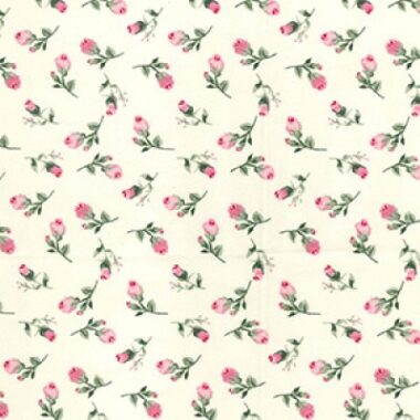 Rosebud Cotton Rose and Hubble Fabric