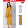New Look N6650 Misses Knit Dress Sewing Pattern