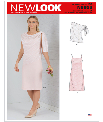 New Look N6653 Misses Dress and Top Sewing Pattern