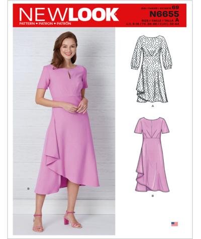 New Look N6655 Misses Dresses Sewing Pattern