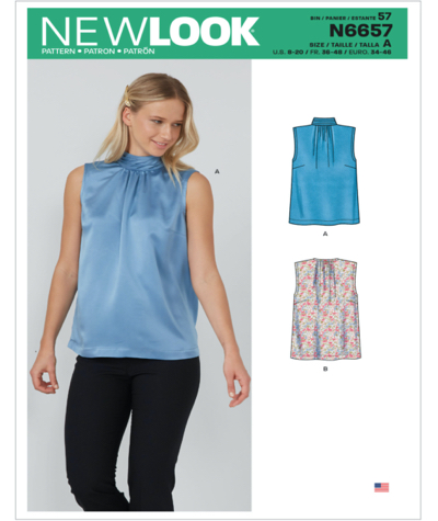 New Look N6657 Misses Shell Tops Sewing Pattern