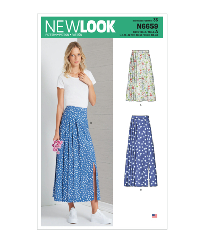 New Look N6659 Misses Pleated Skirts Sewing Pattern