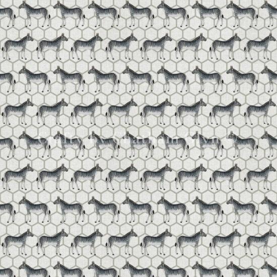 Zebra Safari Linen Style Canvas